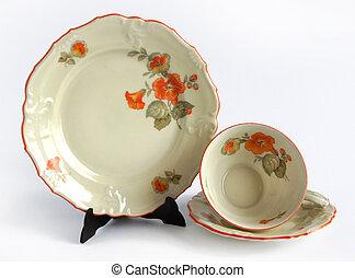 porcelæn, par kopper