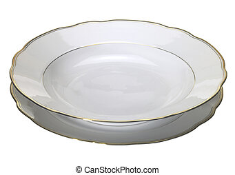 porcelain dinner set - studio photography of a nostalgic...
