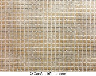 Porcelain pieces mosaic brown background pattern