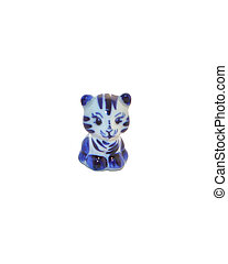 Porcelain toy in the form of a cat