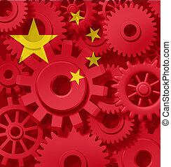porcelaine, chinois, économie