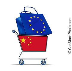 porcelaine, dette, bailout, européen, achat, europe