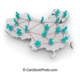 porcelaine, réseau, social