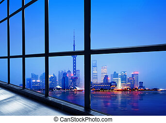 porcelaine, shanghai, lujiazui, district financier