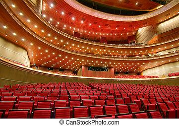 porcellana, nazionale, grande, teatro