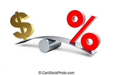 porcentaje, muestra del dólar, plano de fondo, columpio,...