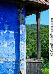 porch., 古い, 家, 細部