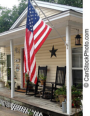 porch and flag