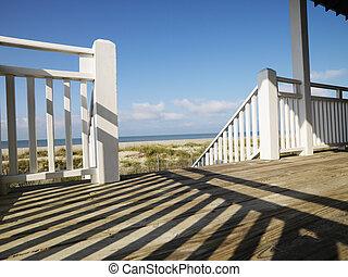Porch at coast.