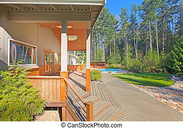 Porch at the mountain home