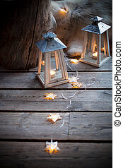 Porch decoration - Porch decorated with lanterns and...