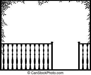 Porch - Illustration of an open porch frame