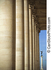 Porch of Bordeaux opera - Stoned column of the porch of...