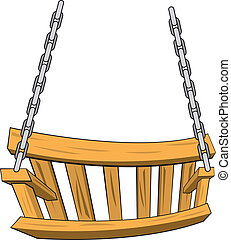 Vector illustration of a porch swing.