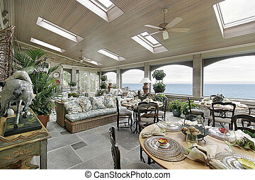 Porch with lake view