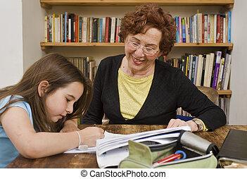 porción, 3º edad, deberes, niño