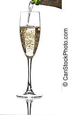 porción, champaña