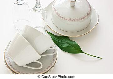 porción, tabla de cena