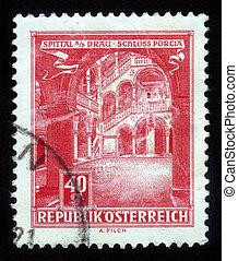 Porcia Castle in Spittal , Austria - AUSTRIA - CIRCA 1962: A...