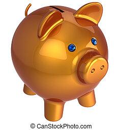 porcin, bank., classique, version, (hi-res