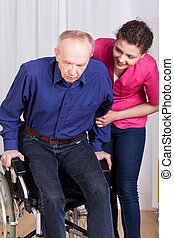 porcja, niepełnosprawny, chuchnijcie pacjent