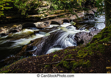 Porcupine Mountains State Park - The Presque Isle River...
