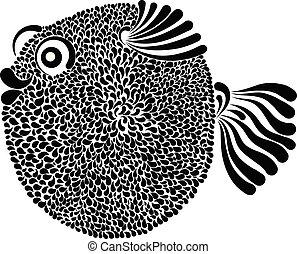 Porcupinefish vector illustration - decorative vector...