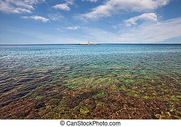 Porec, Istria, Croatia: marine landscape of the Adriatic sea