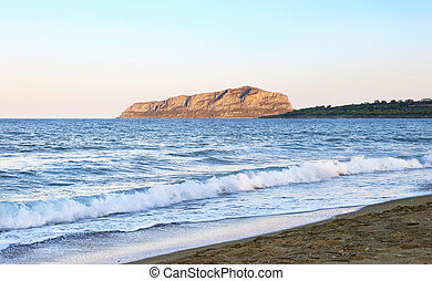 Pori beach at Lakonia Peloponnese Greece - landscape of Pori...