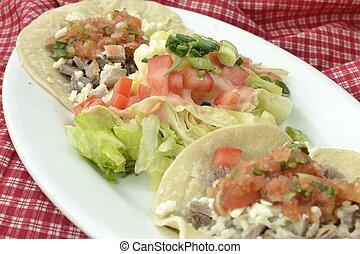Pork and Salsa Taco\'s - Pork taco\'s with salsa,cheese...