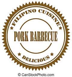 Pork Barbecue-stamp