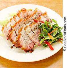 BBQ Pork and Crispy Pork - pork. BBQ Pork and Crispy Pork