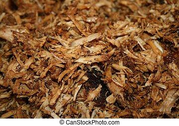 Pork BBQ:CloseUp: cooked & shredded