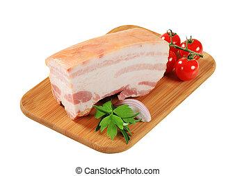 Pork belly - Slab of pork belly with rind
