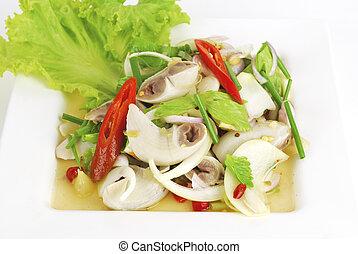 pork chitterlings in spicy salad