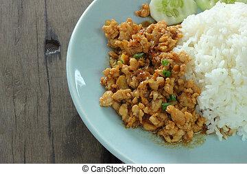 Pork garlic rice