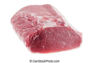 Raw pork isolated on white