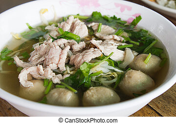 Pork meatball soup - Pork meatball and vegetable soup