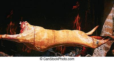 Pork on a Roasting-jack