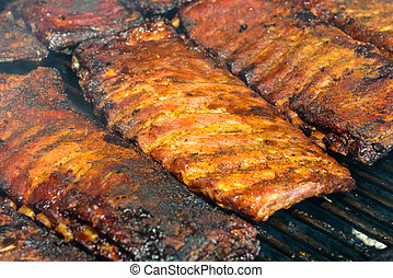 Pork Ribs on the Grill