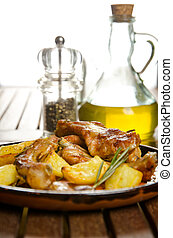 Pork ribs - Roasted pork ribs with potatoes