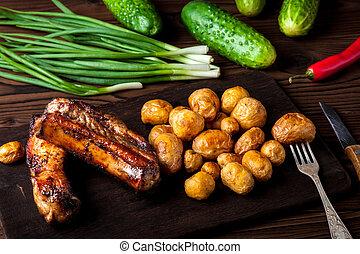 Pork Ribs With Potatoes