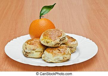 Pork rind cookies and orange - Pork Rind biscuits and orange...