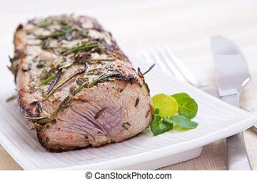 Pork Roast - Delicately flavoured pork roast prepared with...