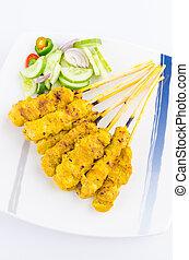 Pork satay thai cuisine food