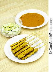 Pork Satay Thai food