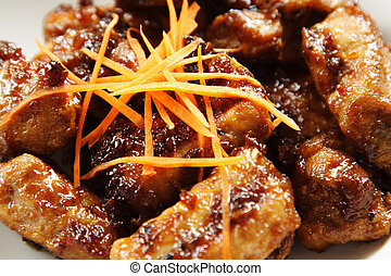 Pork spare ribs with sweet chili sauce