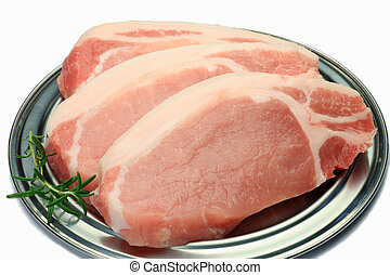 pork - This is sirloin meat of the pork.