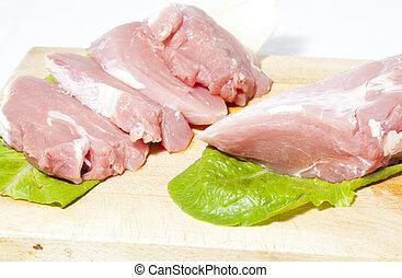 Pork tenderloin - Cut pork tenderloin and fresh