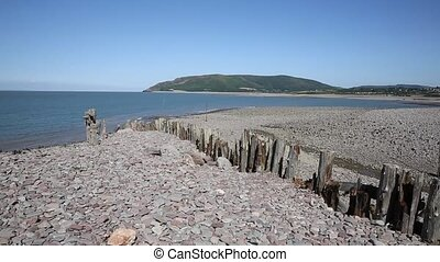 Porlock Weir beach Somerset PAN